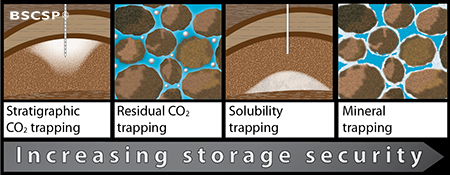 There are a variety of ways geologic environments store CO<small>2</small>, with the mineralization of CO<small>2</small> being the most effective.