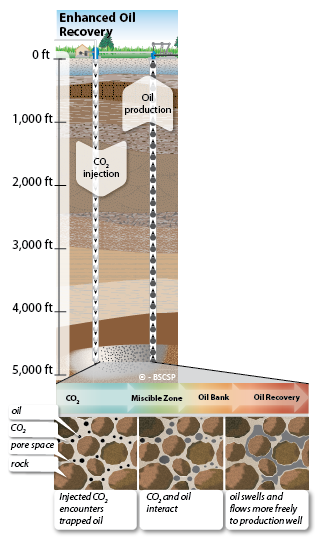 Enhanced oil recovery (EOR) can be enhanced through CO<small>2</small> sequestration activities.